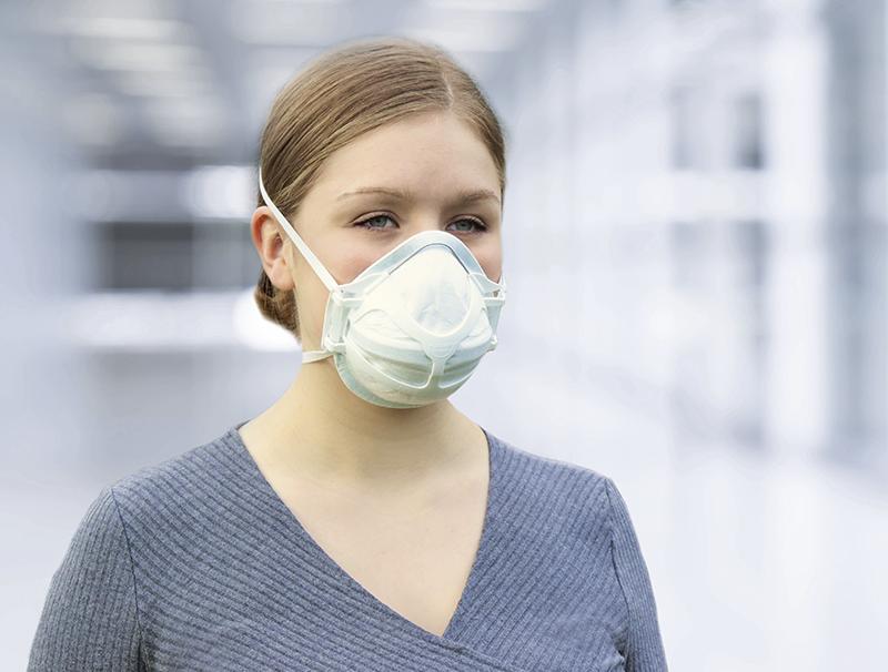 Happy breath-Atemschutzmaske innovatives Konzept: Trägersystem und wechselbares Filterelement
